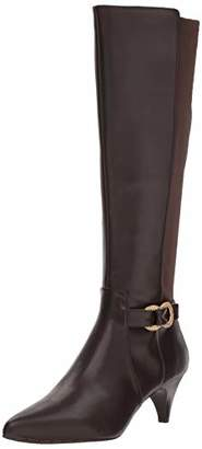Kenneth Cole Reaction Women's Kick Dress Knee High Stretch Boot Decorative Buckle