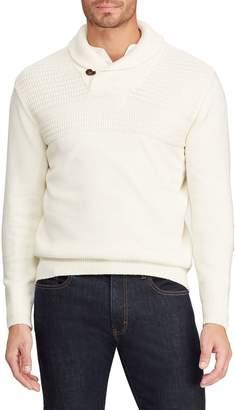 Chaps Big Tall Shawl Collar Cotton Sweater