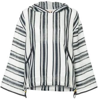 Tory Burch Awning striped hoodie
