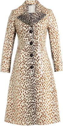 Marco De Vincenzo Leopard Print Coat