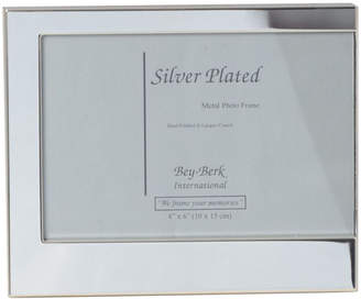Bey-Berk Bey Berk Silver Plated 3 1/2X5 Picture Frame With Easel Back