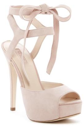 GUESS Kassie Lace Platform Sandal $109 thestylecure.com