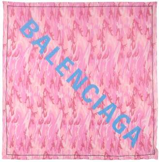 Balenciaga Camouflage Modal & Silk Scarf