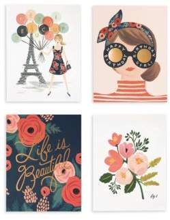 Rifle Paper Co. Set of Eight Parisian Note Cards