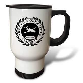 3dRose Worlds Greatest Aeronautical Engineer award. Fun Job pride work gifts, Travel Mug, 14oz, Stainless Steel