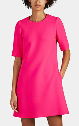 Lisa Perry Women's Peekaboo Wool Crepe Shift Dress - Pink