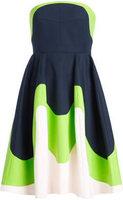 DELPOZO Strapless Dress in Cotton