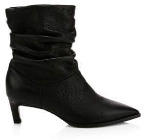 Aquatalia Women's Maddy Slouchy Leather Boots - Black - Size 11