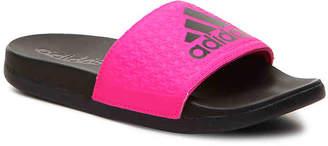 adidas Adilette Ultra Toddler & Youth Slide Sandal -Black/Pink - Girl's