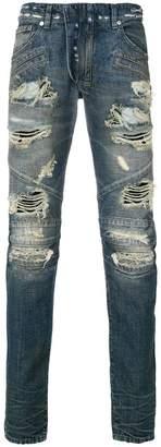Pierre Balmain distressed slim-fit jeans