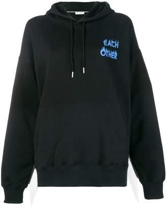 Each X Other logo print hoodie