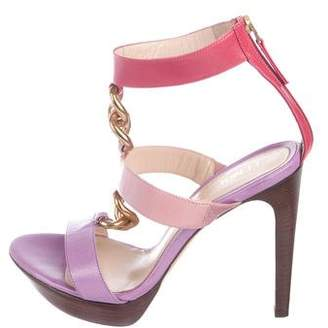 Fendi Chain-Link Platform Sandals
