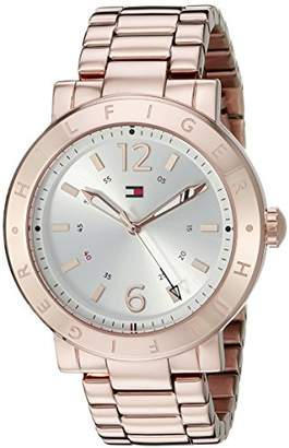 Tommy Hilfiger Women's 1781621 Casual Sport Analog Display Quartz Rose -Tone Stainless Steel Watch