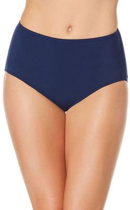 Jantzen Solid Mid-Waist Bikini Bottom $46 thestylecure.com
