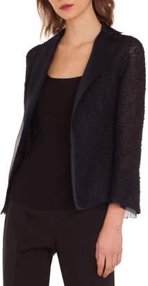 Akris Tweed Open-Front Jacket