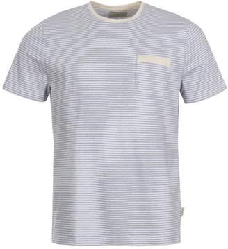 Oliver Spencer Envelope Pocket T-Shirt - Sky Blue Stripe