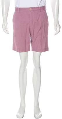 Etro Gingham Flat Front Shorts