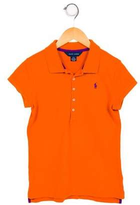 Ralph Lauren Girls' Polo Top