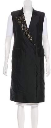 Thomas Wylde Embellished Long Vest
