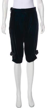 Christian Dior Velvet Mid-Rise Pants w/ Tags