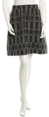 Akris Punto Printed Wool-Blend Skirt