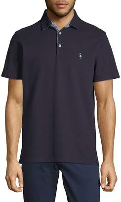 Tailorbyrd Men's Undercollar Short-Sleeve Polo