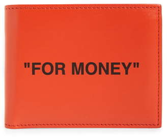 Off-White Quote Leather Wallet