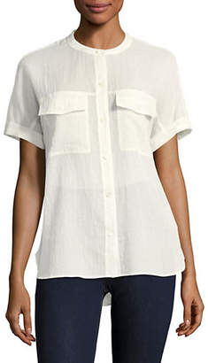Theory Rilley Cotton Button-Down Shirt