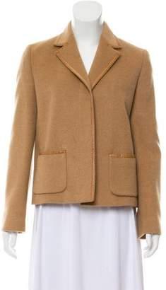 Max Mara Camel Hair Notch-Lapel Jacket