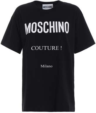 Moschino Contrasting Print Basic Cotton Tee