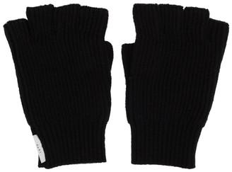 Tiger of Sweden Black Fingerless Guus Gloves