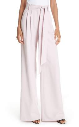Milly Italian Cady Natalie Wide Leg Pants