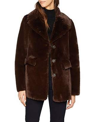 Warehouse Women's Femme Faux Fur Coat,8 (Size:8)
