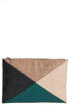 Sole Society Steph Patchwork Clutch - Black $29.96 thestylecure.com