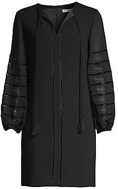 Trina Turk Women's Bordeaux Bishop-Sleeve Shift Dress - Size 0