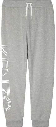 Kenzo Logo leg cotton jogging bottoms 4-16 years $68 thestylecure.com