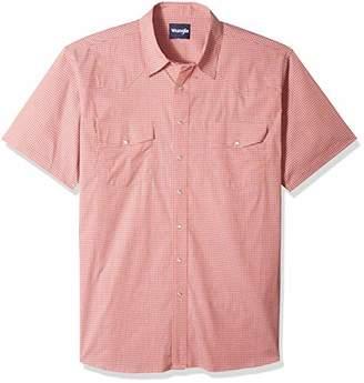 Wrangler Men's Big & Tall Wrinkle Resist Two Pocket Short Sleeve Snap Shirt