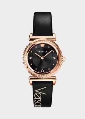 Versace Black V-Motif Vintage Logo Watch