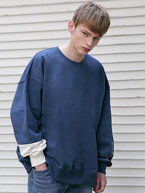 [UNISEX]Sb Reflective Oversized Sweatshirts Msecr002 DB