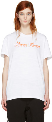 Off-White White 'Mirror Mirror' T-Shirt $285 thestylecure.com