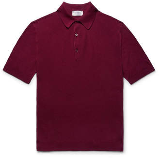 John Smedley Roth Slim-Fit Sea Island Cotton-Piqué Polo Shirt