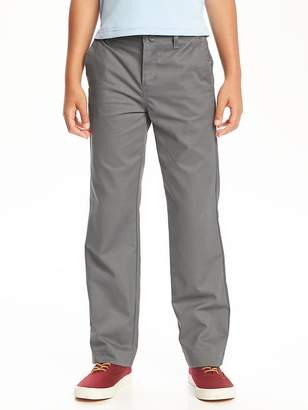 Flat-Front Straight Uniform Khakis for Boys $19.94 thestylecure.com