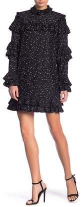 Frame Diamond Ruffle Silk Dress