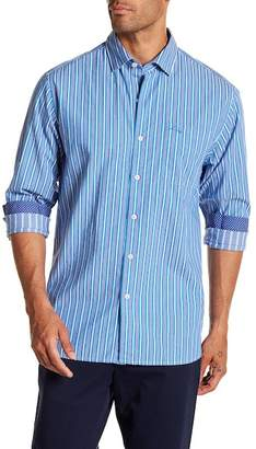 Tommy Bahama Surf the Line Striped Trim Fit Shirt