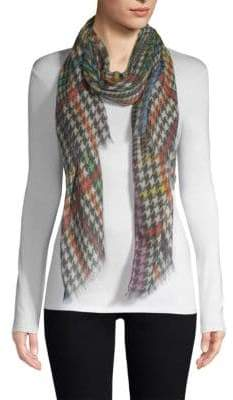 Etro Multi-Plaid Cashmere Scarf