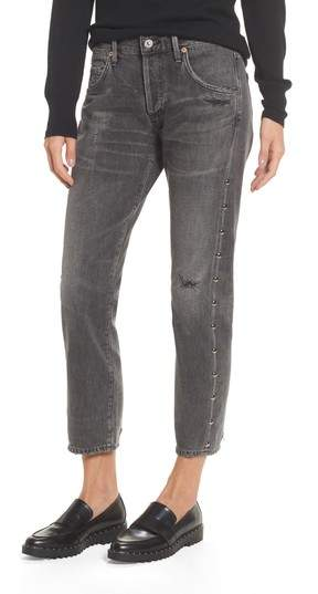Citizens of Humanity Emerson Studded Slim Boyfriend Jeans