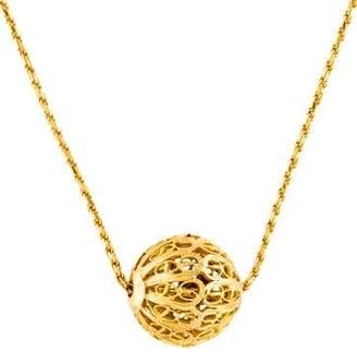 22K Sphere Pendant Necklace