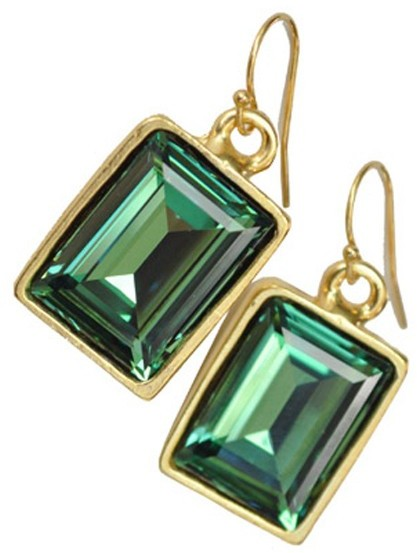Diana Warner Emerald Earrings