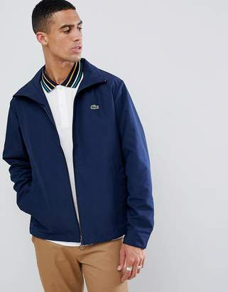 Lacoste logo zip through jacket in navy