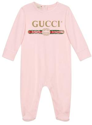 Gucci Logo Cotton Footie